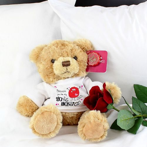 Personalised Love Monster Message Bear